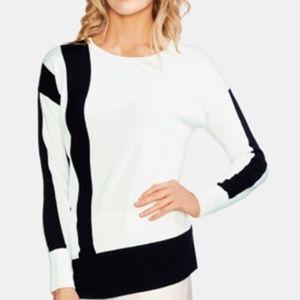 Vince Camuto Sweater Pullover Black White Women L